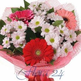 Цветы букет заказать как из днепропетровска в киев розы из шелка купить